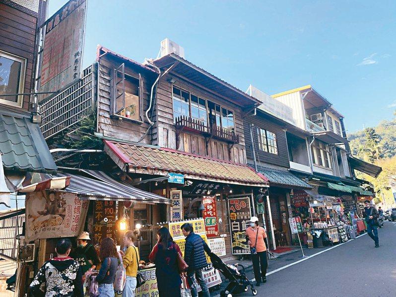 新竹縣內灣老街傳統建築,彷彿走入時光隧道。記者巫鴻瑋/攝影