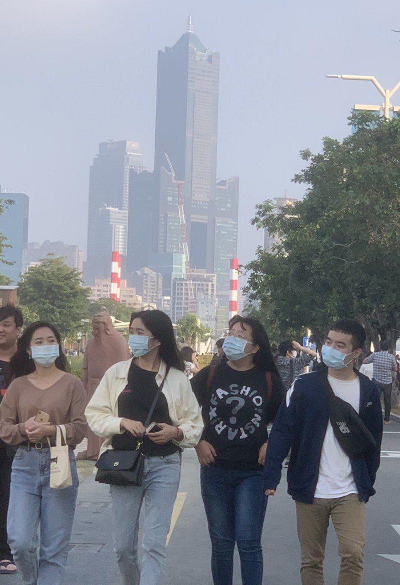 根據環保署空氣品質預報,高屏地區因位於下風處,今天起至4日,連3天空氣品質都為橘色提醒等級,敏感族群應注意。記者徐如宜攝影/報系資料照