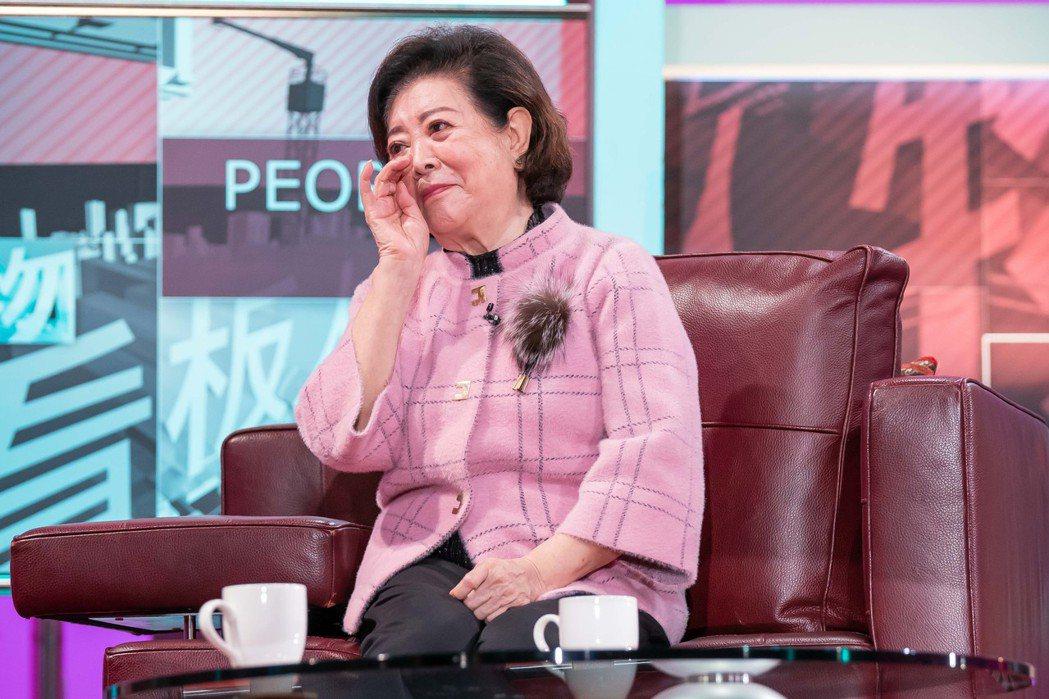 陳淑芳談起演戲真情流露。圖/TVBS提供