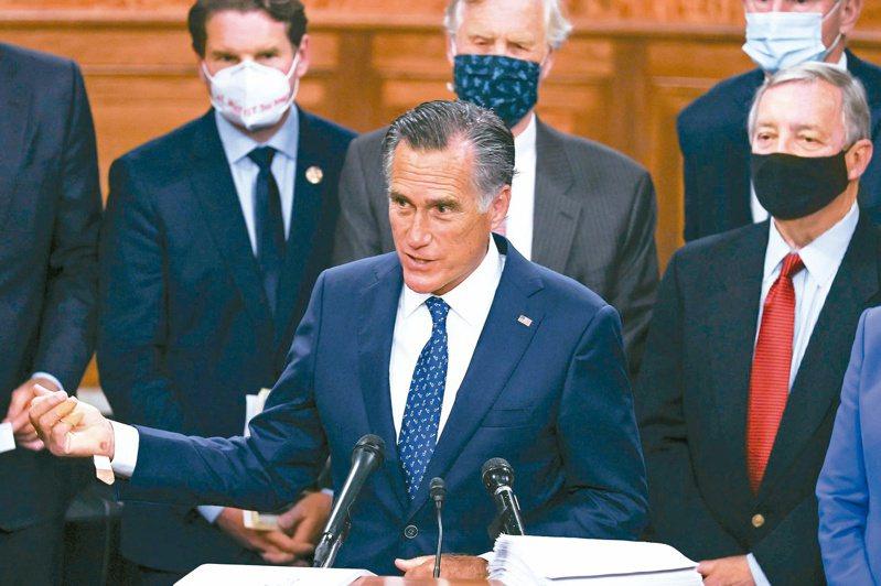 參議員羅姆尼是「有原則共和黨人」的代表人物。(法新社)