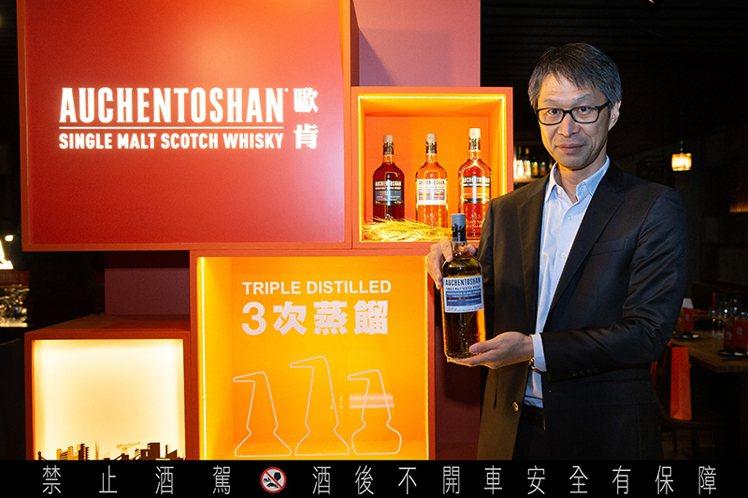台灣三得利總經理長江淳。圖/台灣三得利提供。提醒您:禁止酒駕 飲酒過量有礙健康。