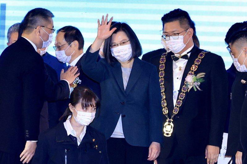 蔡英文總統下午出席國際青年商會中華民國總會在圓山飯店舉行的『第69屆總會長暨理監事宣誓就職典禮』。記者林伯東/攝影