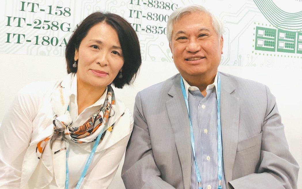 聯茂董事長陳進財(右)與聯茂執行長蔡馨暳。記者尹慧中/攝影