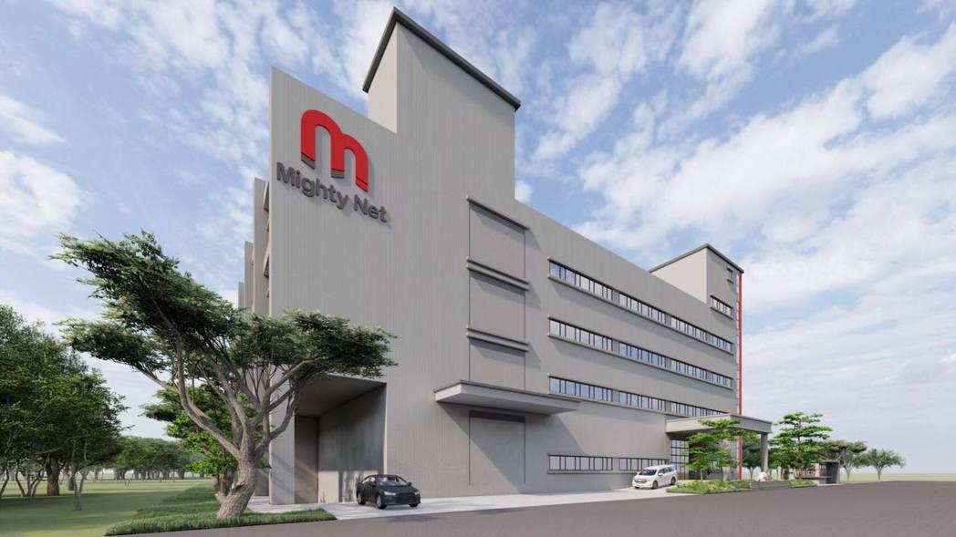 Mighty Net新竹新廠外觀設計圖。 Mighty Net /提供
