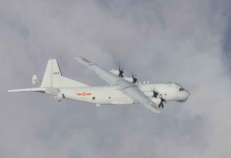 中共運八反潛機。圖/國防部提供