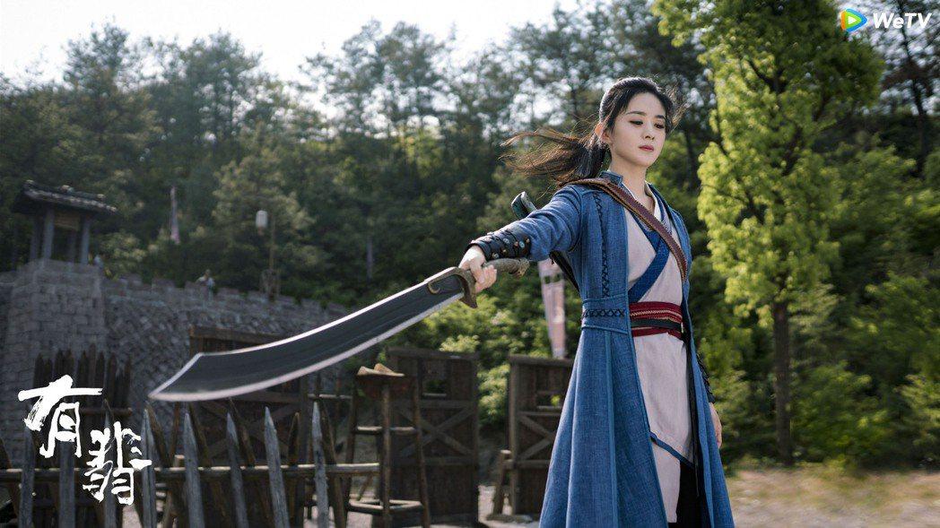 趙麗穎在「有翡」中演出鋼鐵直女。圖/WeTV海外站提供