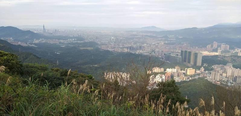 站在新北市汐止區大尖山的觀景台,汐止街景近在眼前,台北盆地也盡收眼底。記者邱瑞杰/攝影