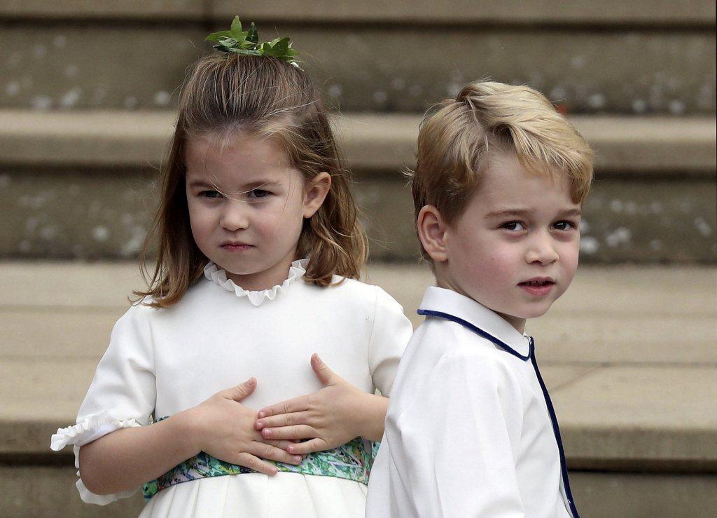 喬治與夏綠蒂兄妹都還沒機會和堂弟多多相聚。圖/路透資料照片