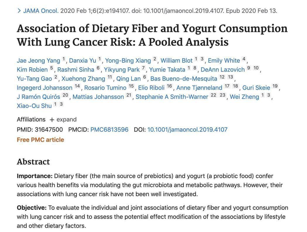 吃對也能減少罹癌率!《JAMA》發現降低肺癌機率達33%的飲食法