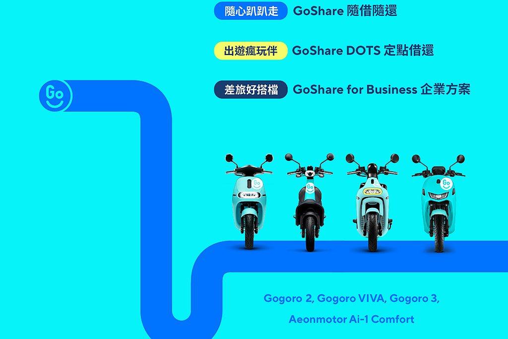 台灣從北到南提供6,000輛GoShare車輛服務5座城市、1條觀光路線,並涵蓋...