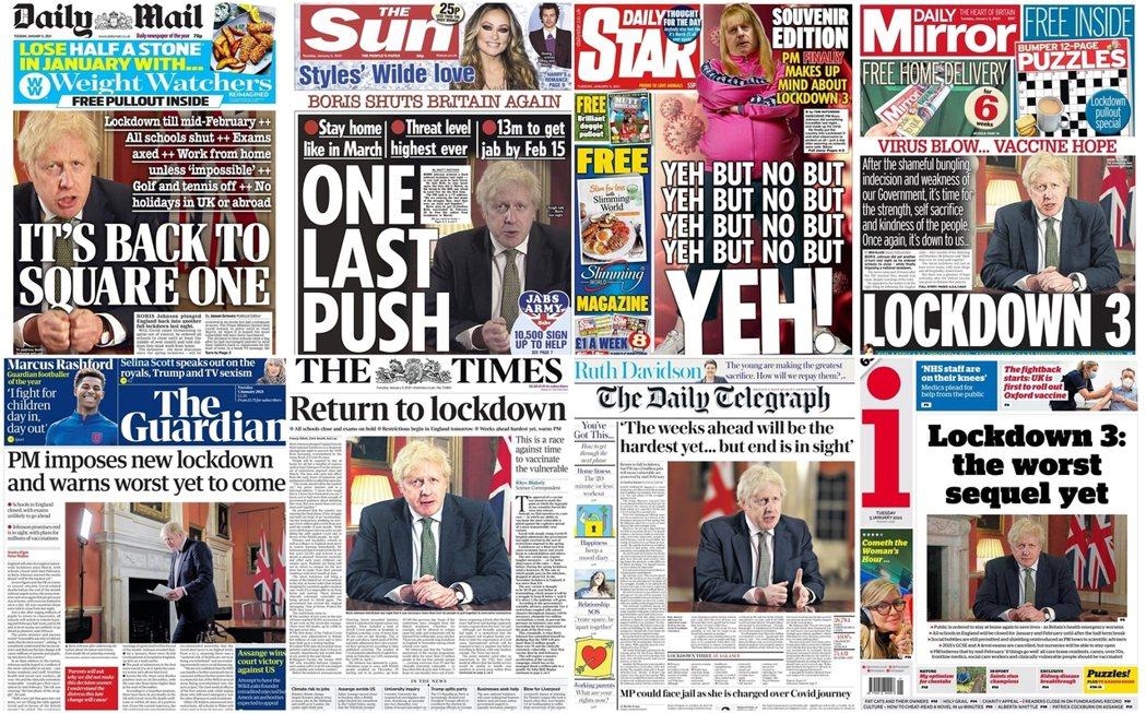 3日英國首相強生(Boris Johnson)才信誓旦旦承諾「不會擴大封城」、4...