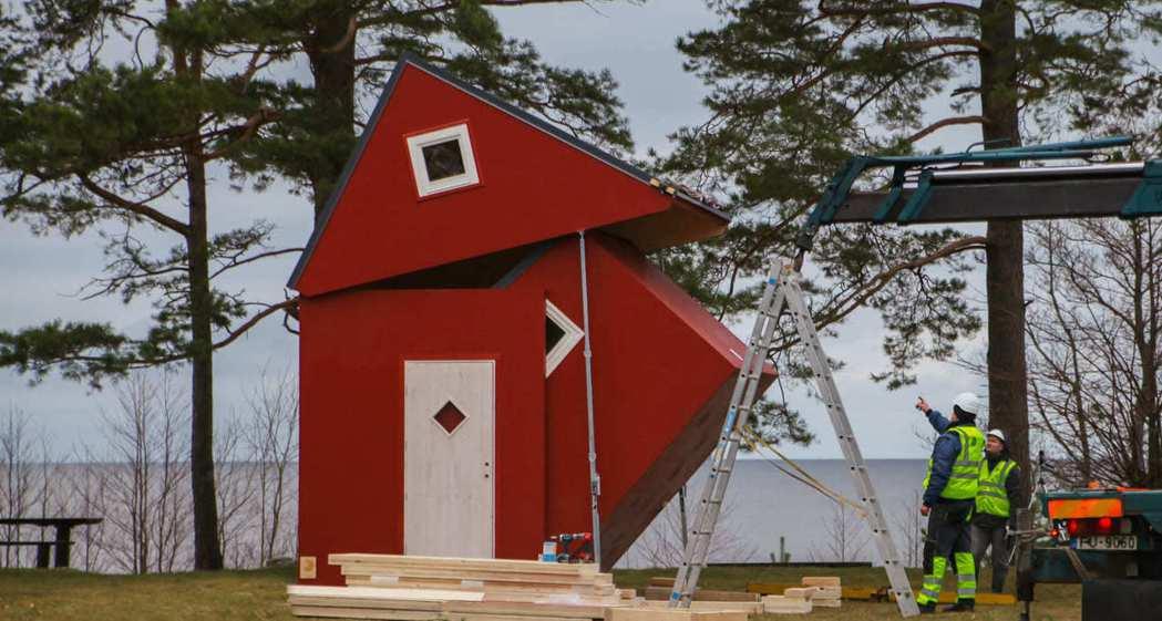 brette haus的小屋,約花3小時就能展開組成。圖/摘自brette ha...