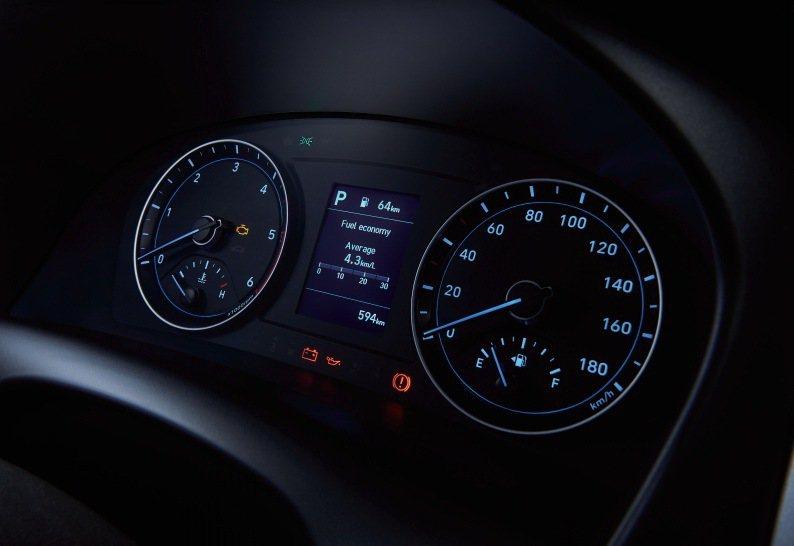 Super Vision高反差儀錶搭配3.5吋TFT液晶顯示的旅程電腦。 圖/南...