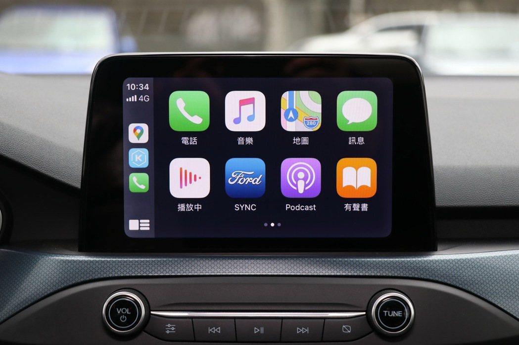 支援Apple CarPlay及Android Auto系統的8吋懸浮式全彩LC...