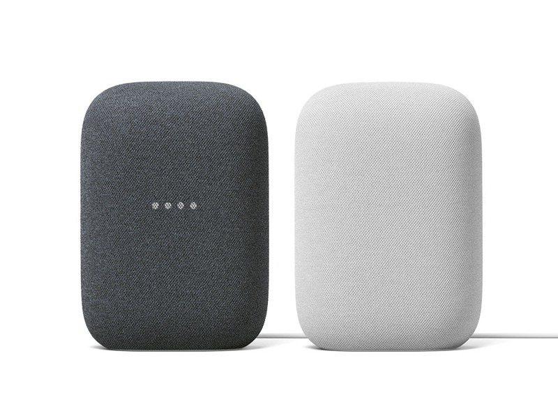 智慧音箱Nest Audio推出石墨黑與粉炭白2色。圖/Google提供