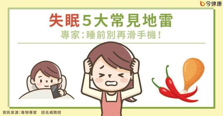 【名家專欄】招名威教授/失眠5大常見地雷 專家:睡前別再滑手機!