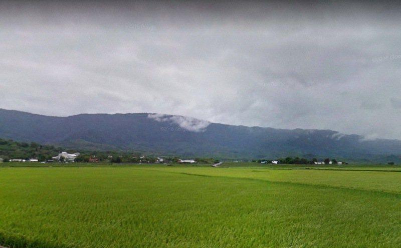 台東縣池上、關山明天起啟動分區輪流灌溉計畫。取自GoogleMaps