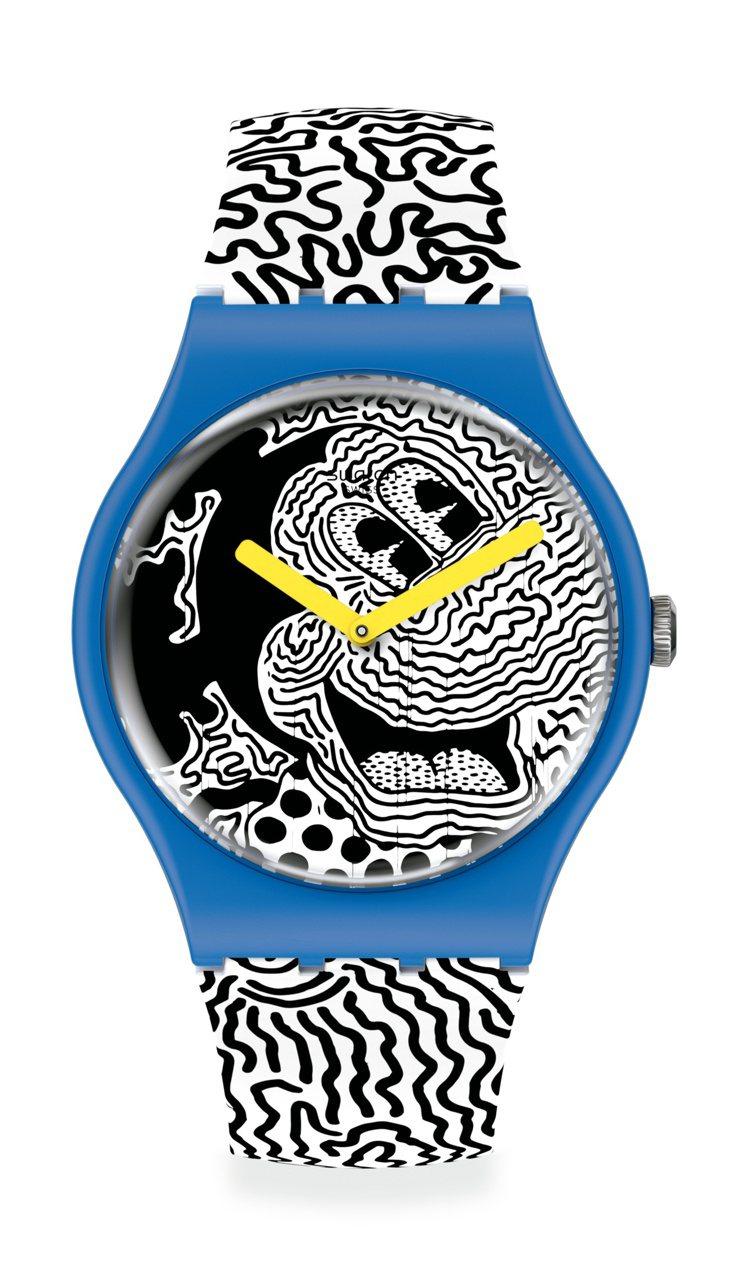 SWATCH與迪士尼、Keith Haring聯名電流米奇腕表6,000元。圖/...