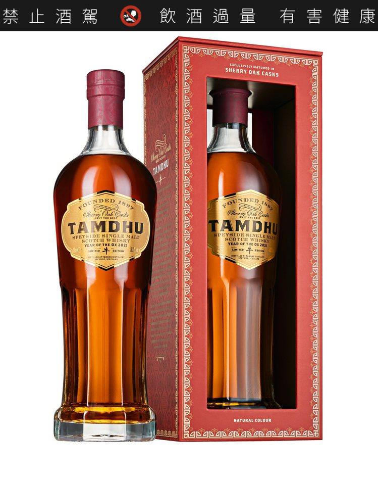 坦杜金牛首款紀念版雪莉桶單一麥芽威士忌限量原酒,酒精濃度58%,容量700毫升,...