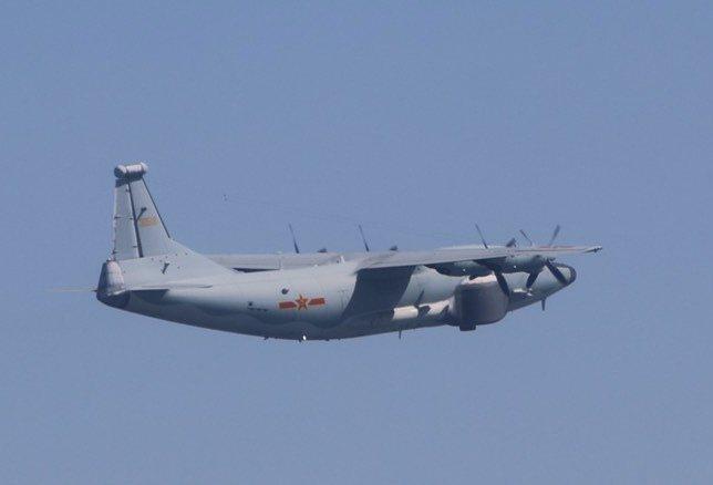 國防部今天公布中共解放軍進入我西南空域活動情況,一架運-8遠干機(同型機)今(5)日進入我西南防空識別區邊緣繞航。圖/國防部