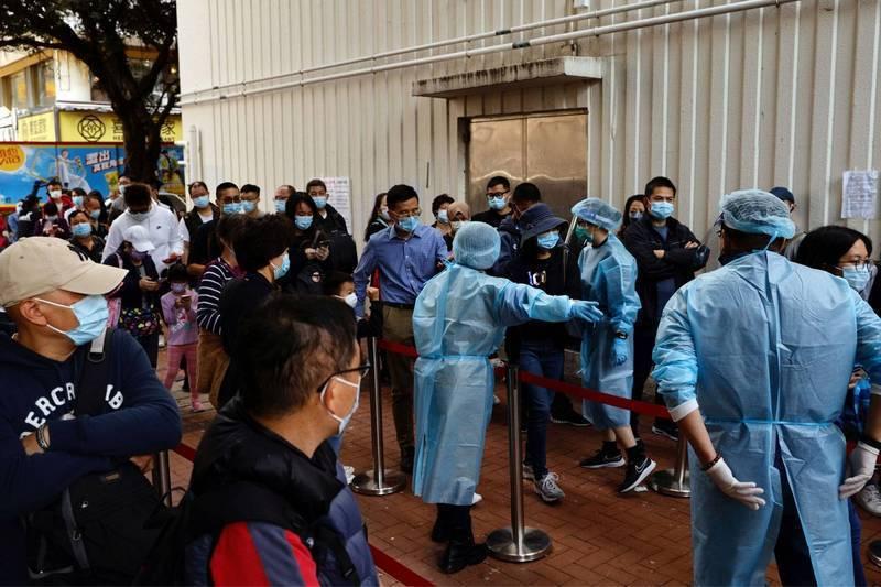 香港疫情持續嚴峻。圖/取自路透社