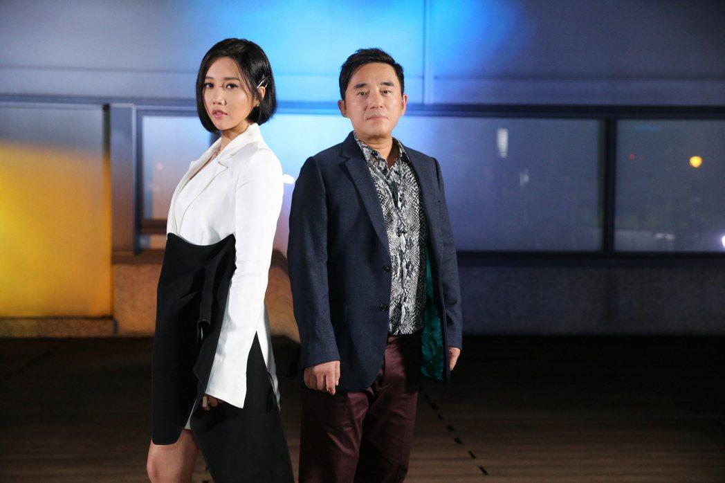 呂方(右)邀來A-Lin合唱新歌「最後的祝福」。圖/阿爾發音樂提供