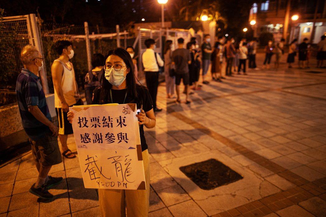 2020年香港立法會選舉投票。 圖/歐新社