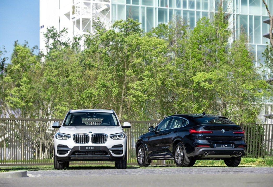 BMW總代理汎德將7日發表全新BMW X3、X4白金領航版,提供150萬60期0...