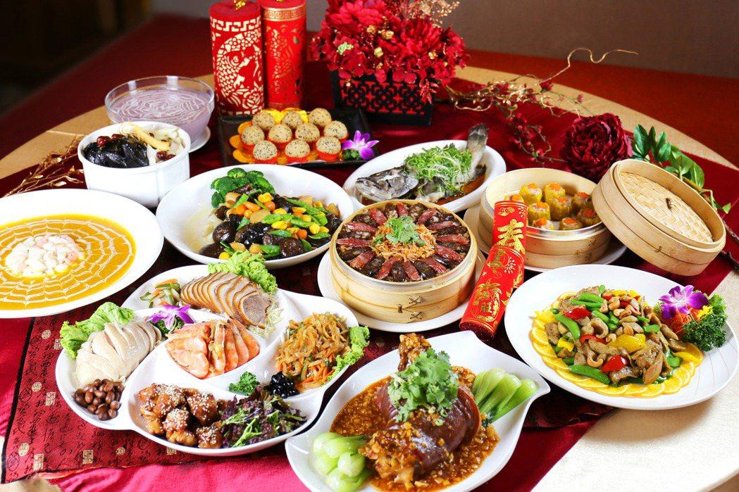 台南富信大飯店2021年9,880元中式桌菜。  台南富信大飯店/提供