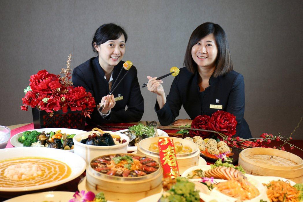 台南富信大飯店年菜外帶熱賣中。  台南富信大飯店/提供