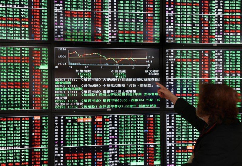 台股今終場下跌16.9點,收14,983.13點,失守15,000關卡,成交量達4,342.14億元。 記者曾學仁/攝影