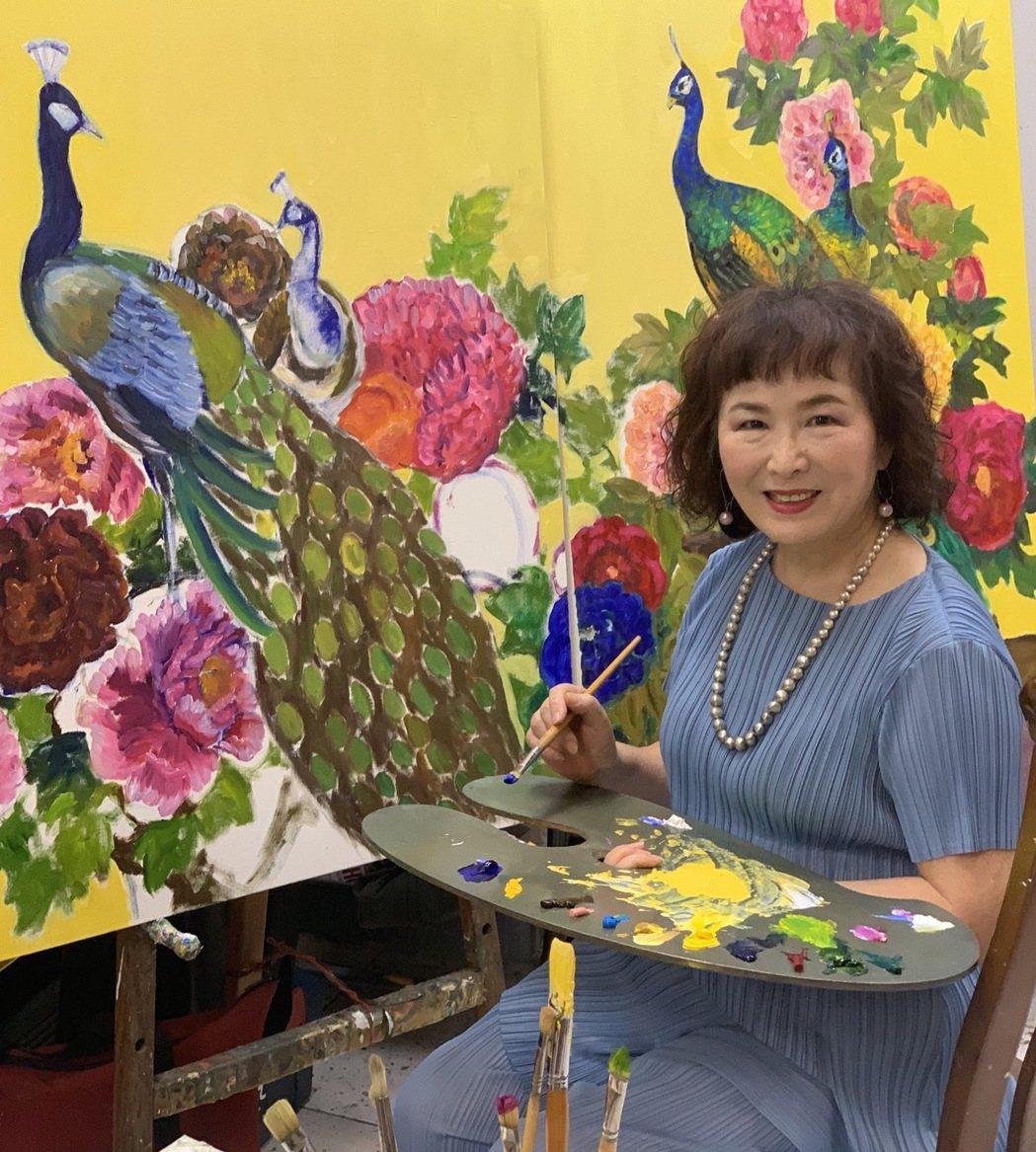 天才型寫意創作畫家歐麗珠。 歐麗珠/提供