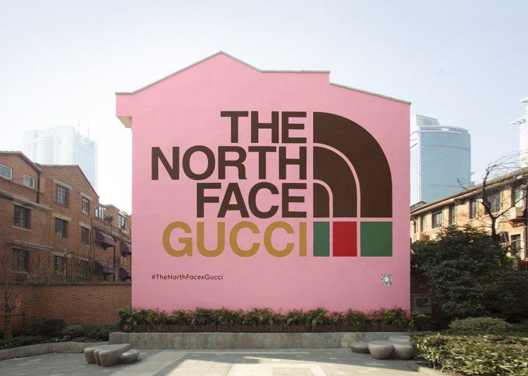 換上The North Face x Gucci聯名系列主題的上海Gucci A...