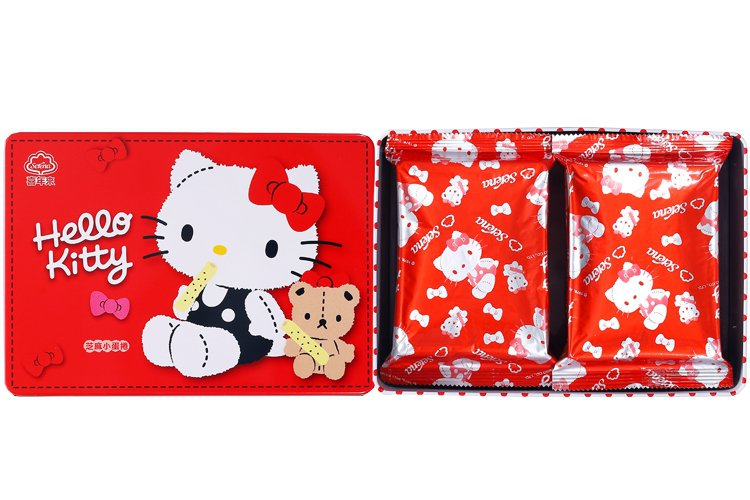 7-ELEVEN獨家限量販售「喜年來Hello Kitty芝麻小蛋捲禮盒」,售價...