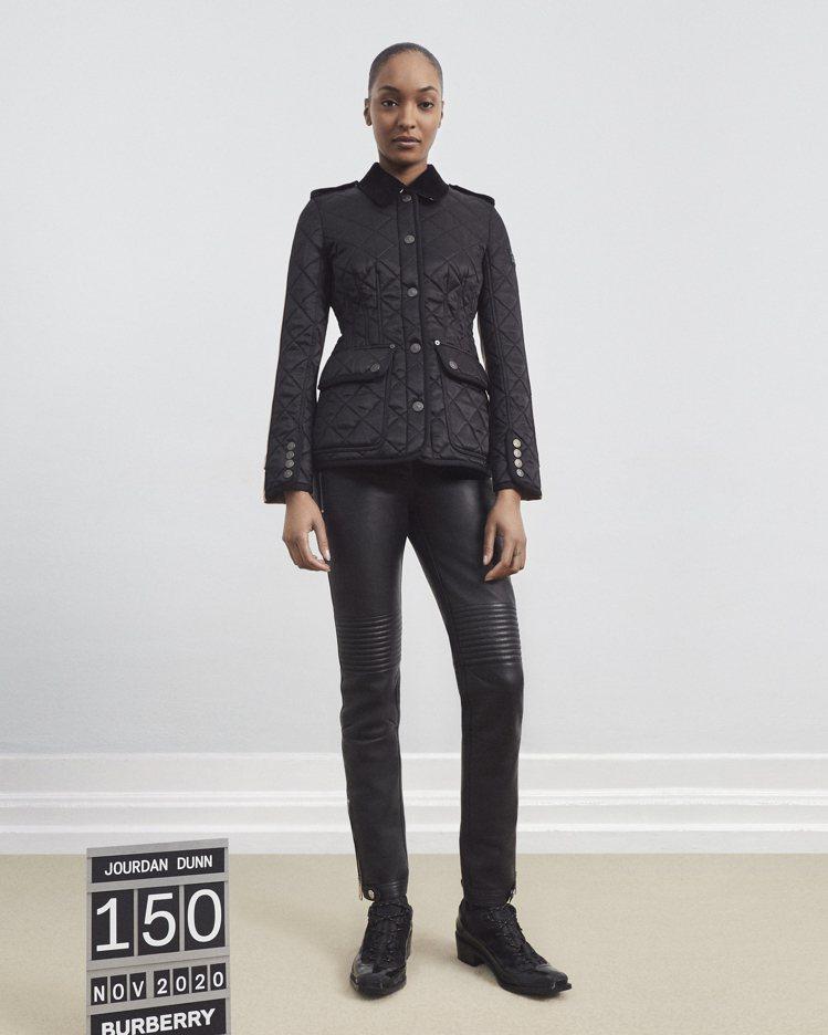 BURBERRY未來經典系列限量版棉質Gabardine裁片菱形絎縫外套,59,...