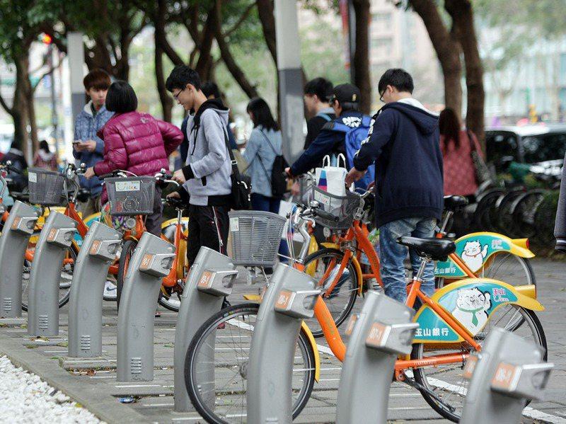 「U-Bike」微笑單車。圖/聯合報系資料照片