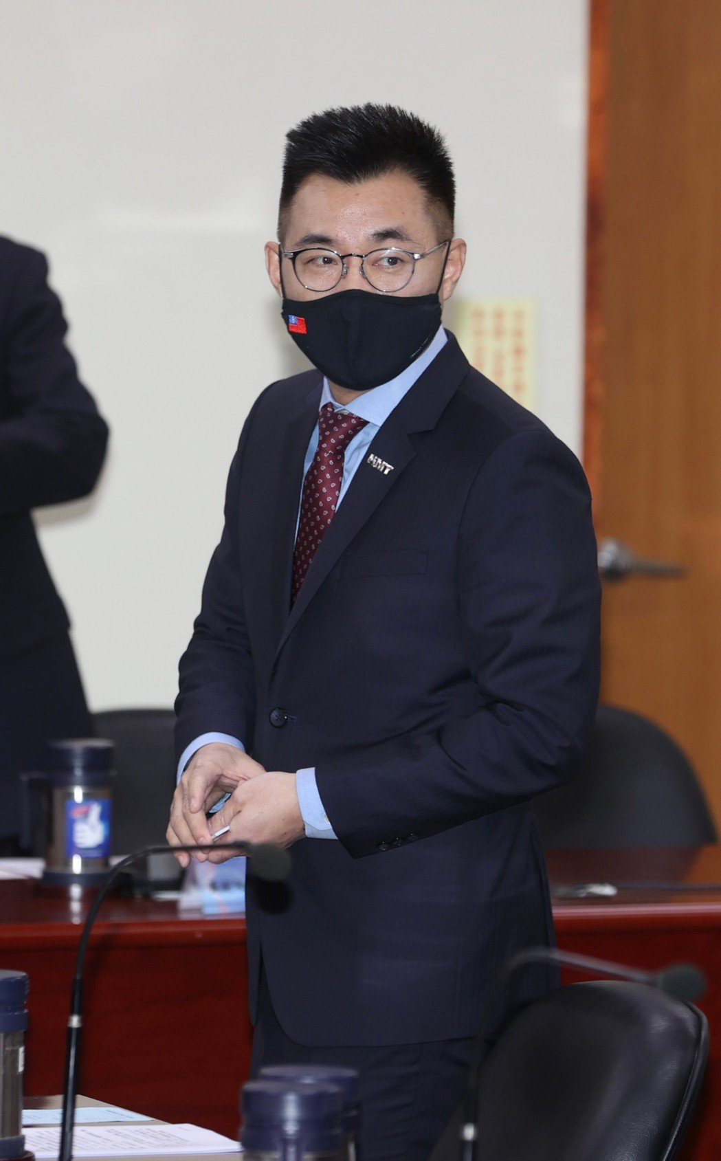 國民黨主席江啟臣。曾吉松/攝影
