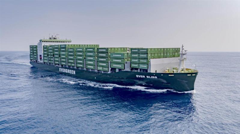 圖為長榮貨櫃輪。長榮海運/提供