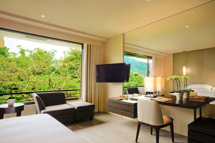 其飯店設計走大自然明亮風,非常寬敞舒適。 圖/大地酒店官網