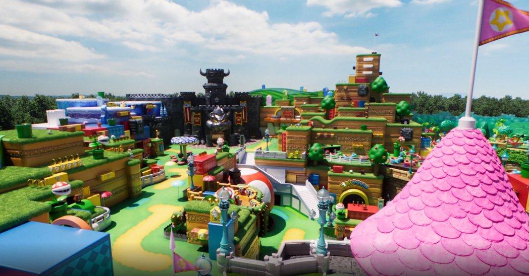 繽紛活潑的園區|擷自:超級任天堂世界 特別網站