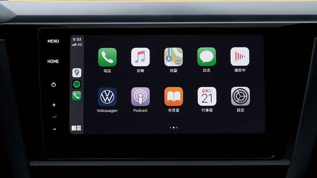 福斯T-Cross全車系搭載Discover Pro 9.2吋MIB 3多媒體鏡...