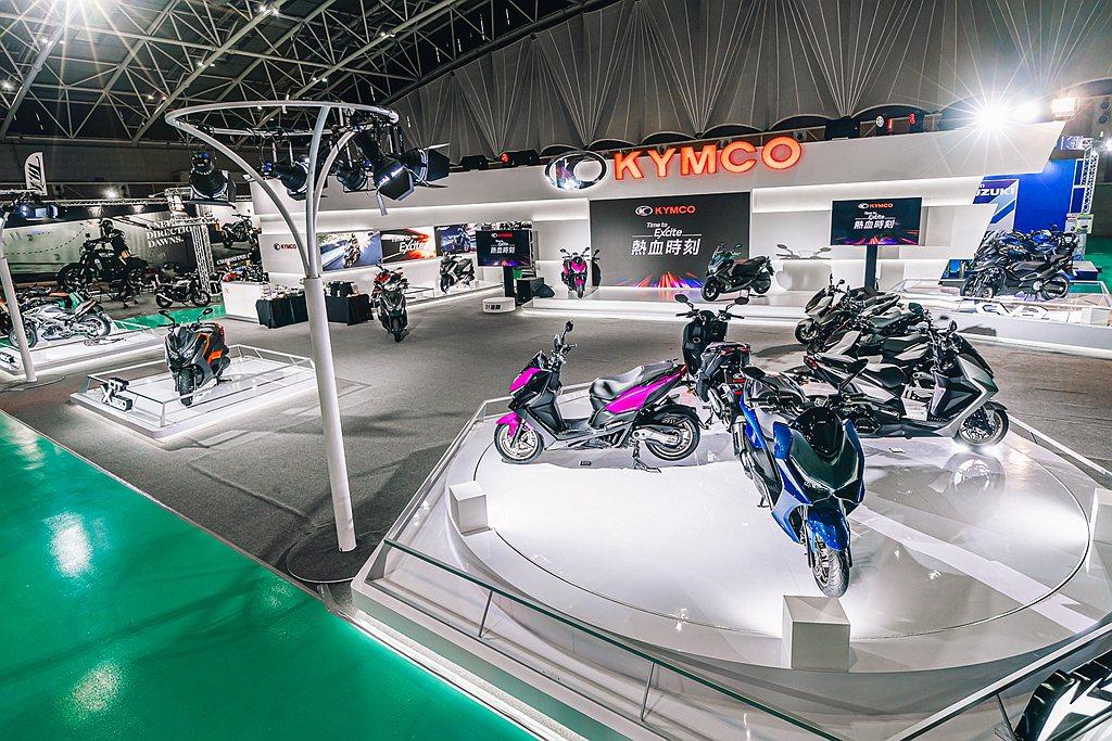 KYMCO於2021年1月8日至10日假新北市工商展覽中心開展的TAIWAN M...