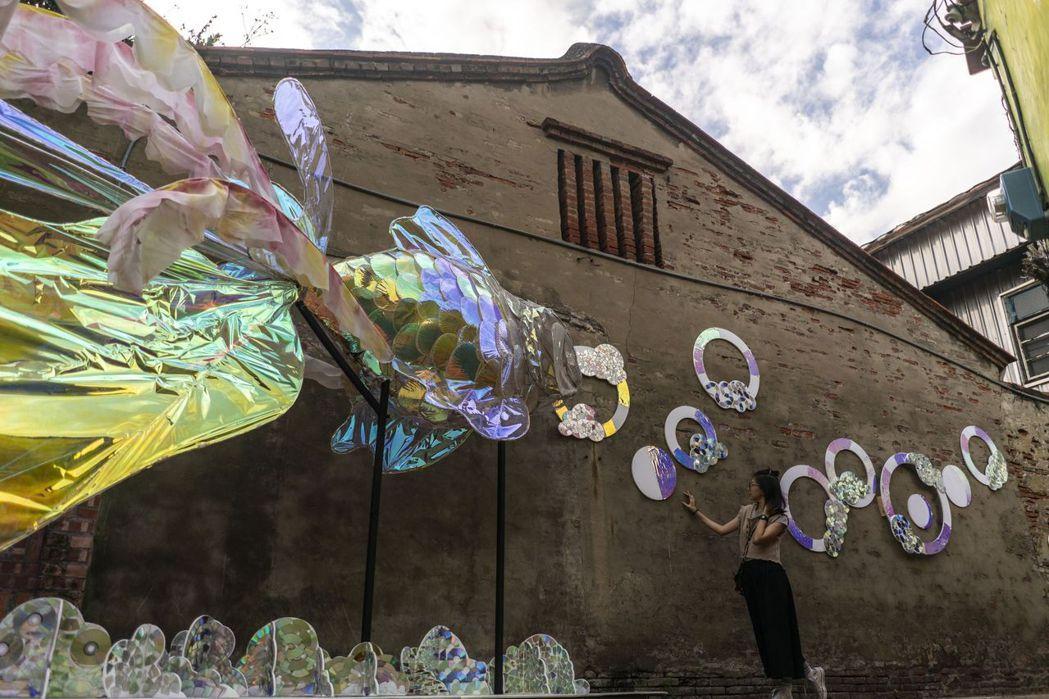 魚鱗巷的風華魚韻,由民眾共創作品。  臺南市政府文化局/提供