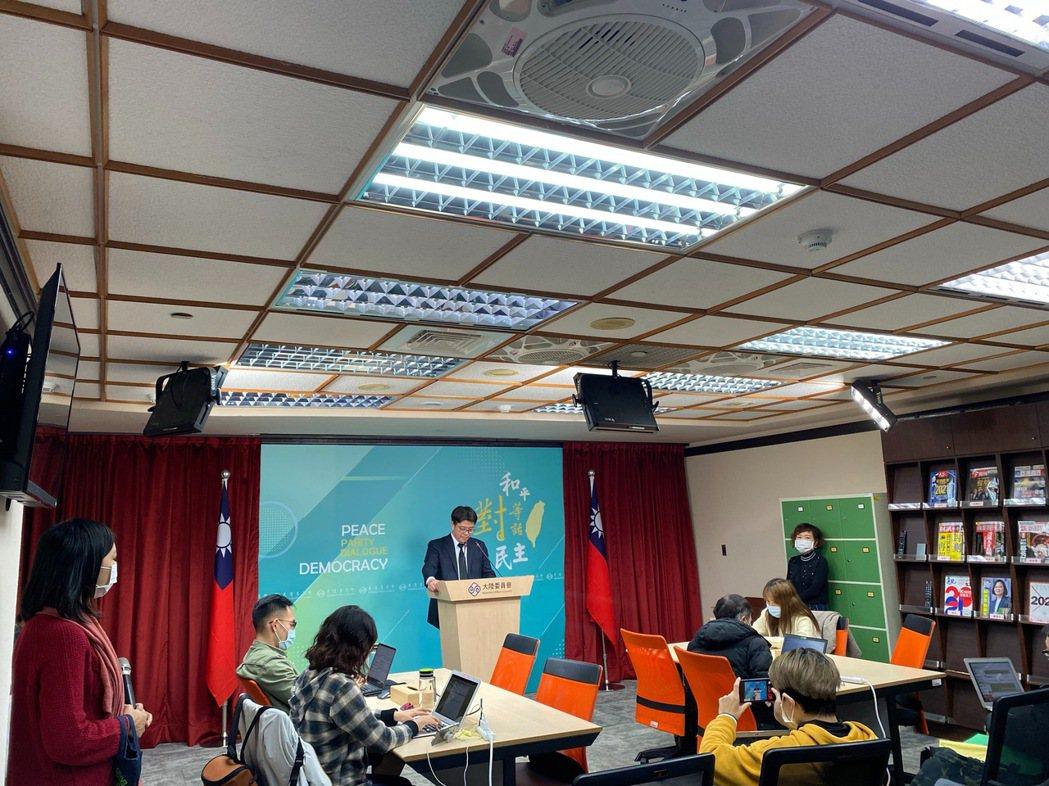 陸委會今日舉行例行記者會。記者呂佳蓉/攝影