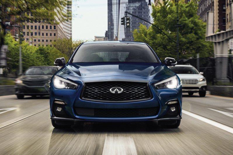 全新INFINITI Q50 300GT 超性能豪華轎跑 159萬元起展開預售。業者提供