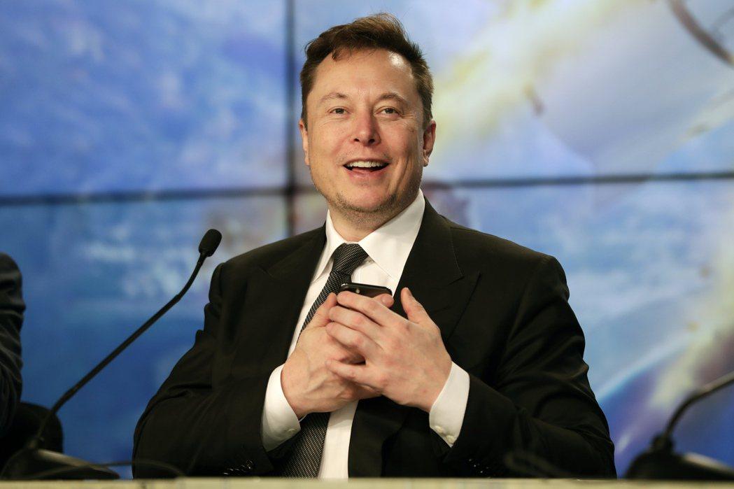 特斯拉公司執行長馬斯克(Elon Musk)。(美聯社)