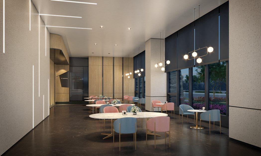 ▲「丰格109」暖潮流.交誼咖啡館-3D示意圖