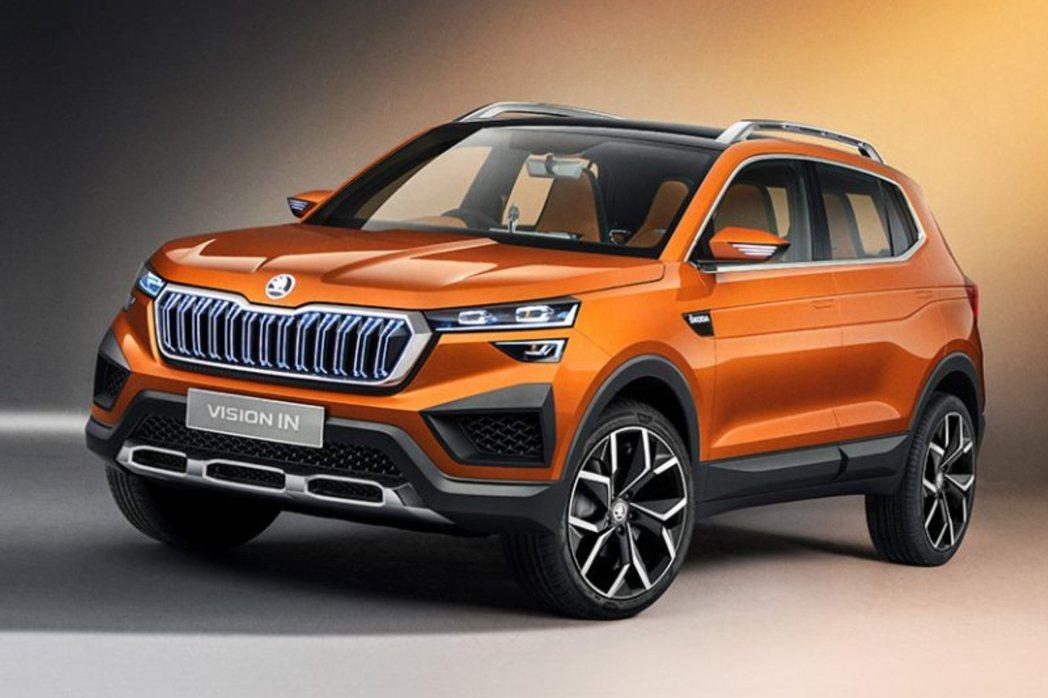 2020在印度新德里車展亮相的ŠKODA Vision IN Concept概念...