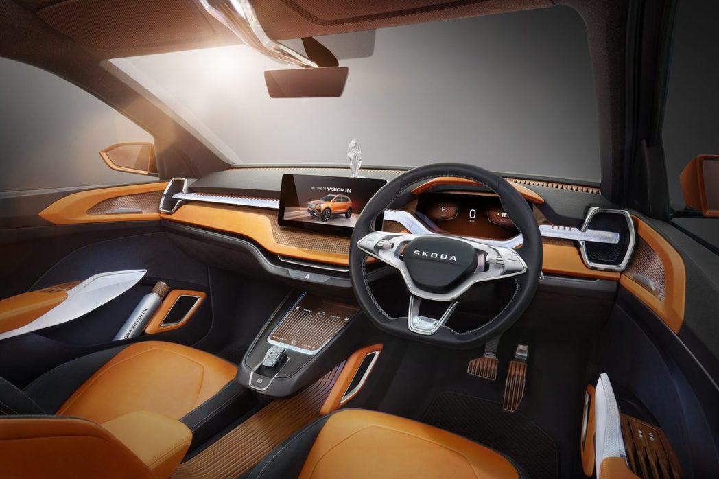 圖為ŠKODA Vision IN Concept概念車內裝。 摘自ŠKODA