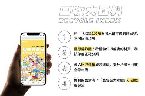 「RE-THINK 重新思考」推出第一個收錄101項台灣人必懂垃圾的「回收大百科...